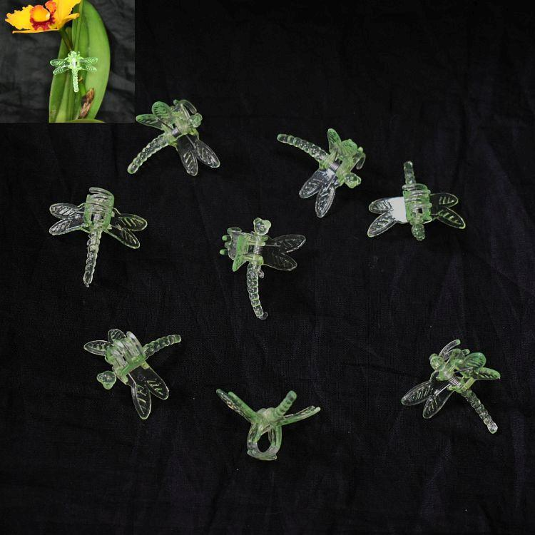 (100 Pack) Green Plastic Dragonfly Clips by Sophie's Orchids