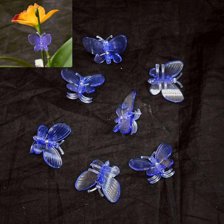 (20 Pack) Purple Plastic Butterfly Clips by Sophie's Orchids