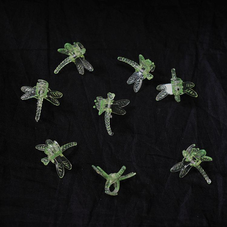 (5 Pack) Green Plastic Dragonfly Clips by Sophie's Orchids
