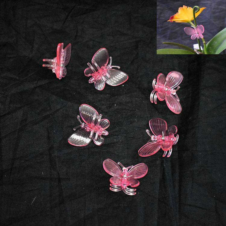 (10 Pack) Pink Plastic Butterfly Clips by Sophie's Orchids