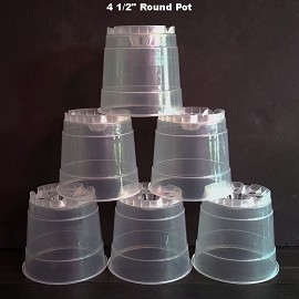 4.5'' Clear Round Plastic Orchid Pot (12 Pack) Sophie's Orchids