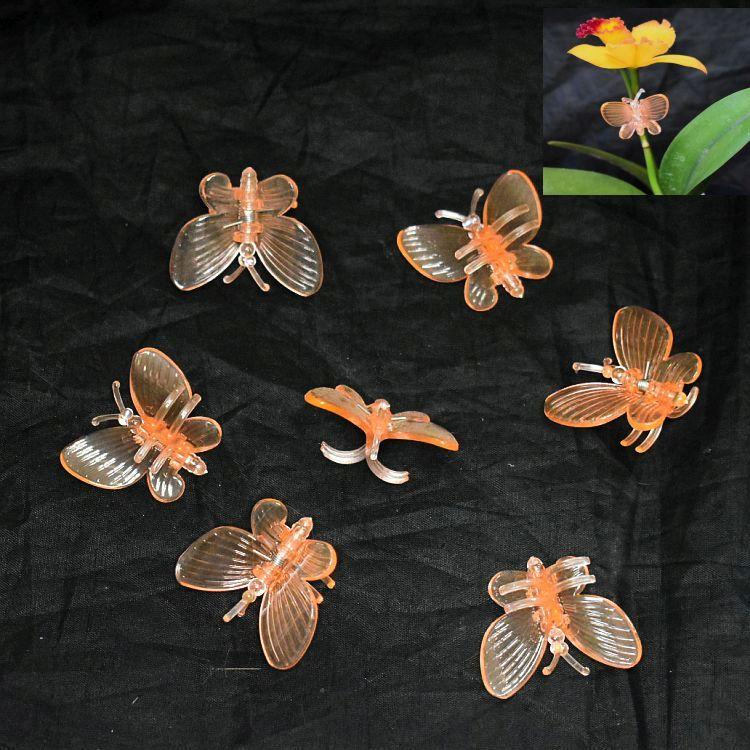 (25 Pack) Orange Plastic Butterfly Clips  by Sophie's Orchids