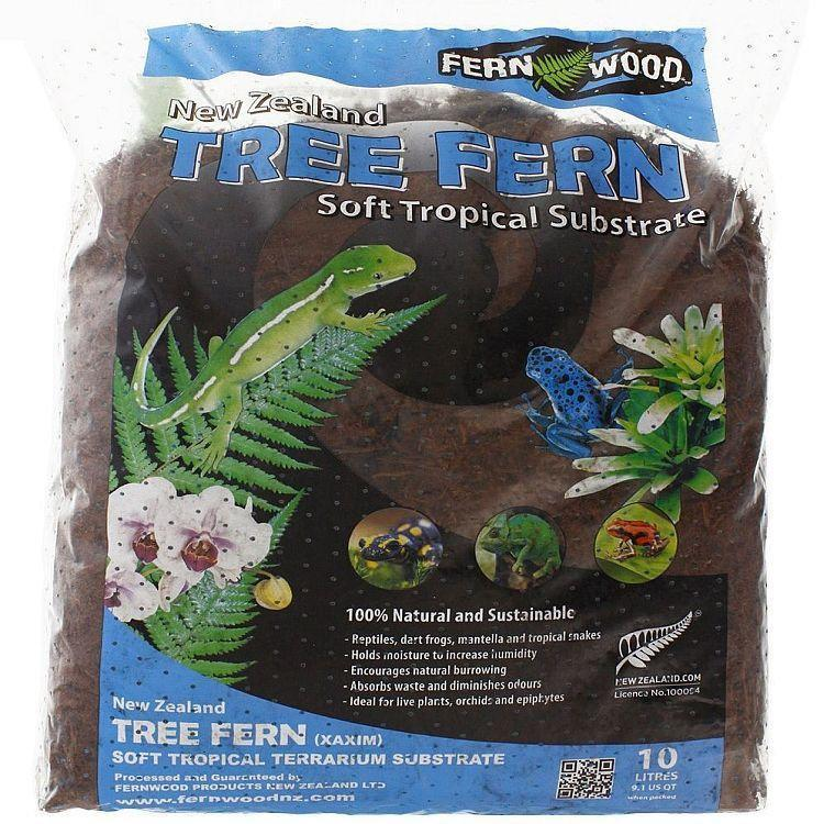 BIN  Fern Wood New Zealand Tree Fern Soft Tropical Substrate 10 Liter Bag