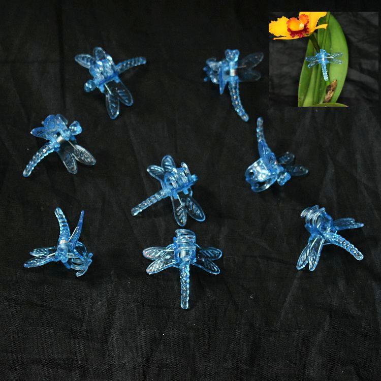 Blue Plastic Dragonfly Clips by Sophie's Orchids