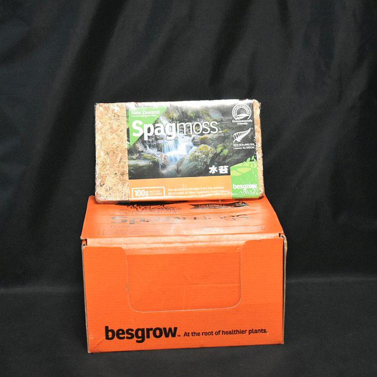 Box of 12 Besgrow New Zealand Spagmoss 100g/8l Compressed Brick
