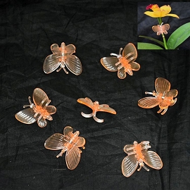 (20 Pack) Orange Plastic Butterfly Clips by Sophie's Orchids